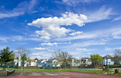 When the naturals look surreal. (KyleWillisPhoto) Tags: blue sky white net clouds canon kyle lens photography eos rebel is perfect kiss paradise skateboarding bright uv aaron nj east tennis filter windsor courts wong willis silky t3i x5 hightstown 600d nikura