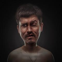 Cute Redneck (Csheemoney) Tags: selfportrait face photoshop serbia ugly disturbing redneck belgrade retouch wrinkles beograd nemanja pesic