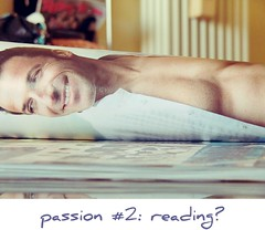 passion #2: reading? (fi0na) Tags: italy reflection smile face photoshop magazine paper reading football cool italia