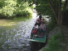Kanu fahren auf der Elz
