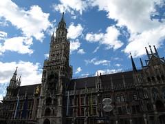 Munich, New Town Hall (barnyz) Tags: city urban building architecture facade germany munich bavaria cityscape exterior neogothic marienplatz urbanlandscape bavarian gothicrevival newtownhall