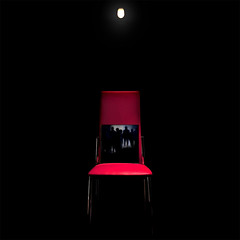 """Stuhl für Josef K."" (helmet13) Tags: reflection bulb mirror chair raw threatening literature franzkafka studies redchair questioning aoi verhör 100faves thetrial d700 heartaward derprozess world100f"