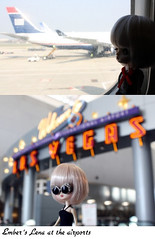Lena's holiday in Las Vegas (pure_embers) Tags: uk las vegas holiday cute girl plane garden airport doll dolls little dal mini pullip humpty dumpty pure embers