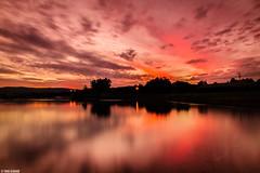 Sunset Reflection on Lake illawarra (Taha Elraaid) Tags: sunset lake seascape reflection photography adobe nsw 40 wollongong lightroom libyan illawarra lakeillawarra austraia nd8 watescape ليبي tahaelraaid مصوور