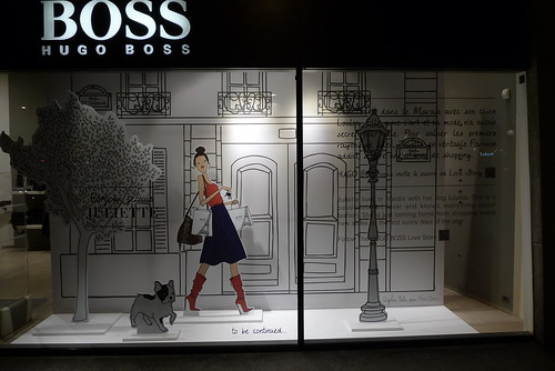 Vitrines Hugo Boss - Paris, mars 2012