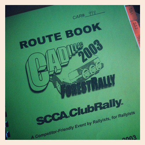 Rally Route Book 2003 Cadillac Rally Route Book
