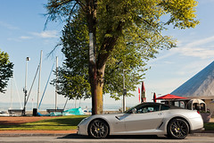 Fiorano (Lambo8) Tags: italy horse sun lake france car les canon eos grey gris soleil photo hp italian italia power geneva d lac s ferrari coche mk2 5d af evian gt lman 74 italie mk ch maranello gtb mkii bains hautesavoie 24105 mark2 599 fiorano afd grise 24105mm worldcars