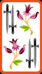 4 d'Épée (aluniverse) Tags: bâtons coupes épées deniers tarotdemarseille arcanesmineurs arcanemineur 56cartes