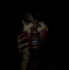 Day 1 - The heathen in her blindness (Nneka Ewulonu) Tags: blood blind 365 bleeding bandages blindness
