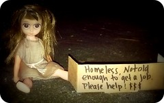 Homeless (Lawdeda ) Tags: susiesadeyes susie sad eyes dirty abused homeless need food shelter what could i do aww poor dear cold damp night her burlap sack dress its all too much help come send money she wont use it for booze hookers swear is an honest derelict
