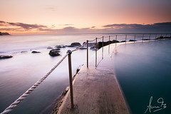 Bronte Pool - Sydney (sachman75) Tags: longexposure beach water sunrise rocks waves sydney australia nsw newsouthwales easternsydney canon1740mmf4 seabaths brontepool singhray eastersuburbs 5dmark2 canon5dmarkii reversendgrad leefiltersndgrad3stops