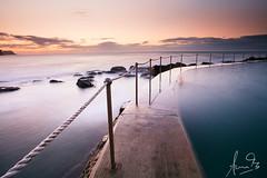 Bronte Pool - Sydney (sachman75) Tags: longexposure beach water sunrise rocks waves sydney australia nsw newsouthwales easternsydney canon1740mmf4 seabaths brontepool singhray eastersuburbs 5dmark2 canon5dmarkii reversendgrad leefiltersndgrad3stops