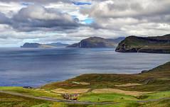 Nororadalur, Faroe Islands (**Anik Messier**) Tags: road sky panorama clouds landscape denmark island islands village faroeislands archipelago tranquillity planetearth faroes kingdomofdenmark streymoy elevatedview abigfave artistpicks anikmessiercopyright nororadalur