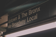 Uptown (trhee_) Tags: ny sign brooklyn canon subway rebel bronx uptown t2i thattrheeblogspotcom