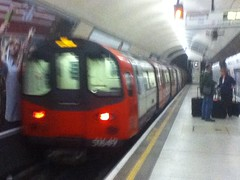 Morden-bound 1995 Stock Tube Train