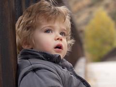 Leo (aidafis) Tags: parque portrait españa puente spain october leo retrato ojos pensativo octubre rizos mirada león niño aida hijo rubio 2011 candamia olympuse520 aidafis