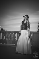 Shushanna_3033 (Krapivin) Tags: sunset hot girl hat canon model dress mark tan ii 5d alexey krapivin