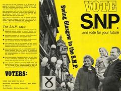 SNP Local Election Leaflet,1968 (Scottish Political Archive) Tags: party scotland election glasgow scottish literature national local campaign snp