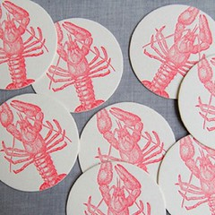 sesame letterpress lobsters
