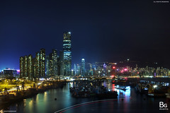Yau Ma Tei Typhoon Shelter :: Night, Hong Kong (hk_bellchan) Tags: hk west night skyscraper buildings hongkong lights neon view harbour central victoria tai shelter  kowloon icc  ifc typhoon tsui kok westkowloon bankofchina yaumatei boc   tkt ymt neonlamp   typhoonshelter