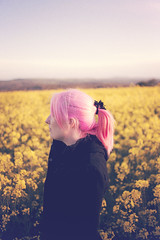 . (Paul Fenrich) Tags: pink light classic girl field 35mm canon hair paul prime piercing 5d f2 tone rapeseed fenrich