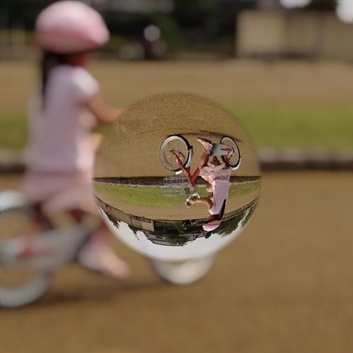 自転車乗れるようになったよ