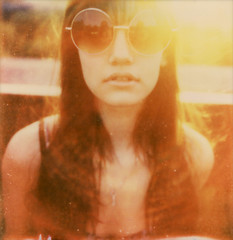 Shades of Summer (amamak photography!) Tags: summer portrait sunlight polaroid shades polaroid680 colourporn impossibleproject sunporn amamak px680cool