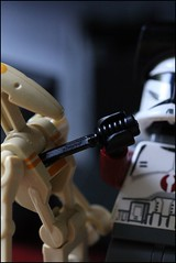Mission 5 - A Strange Message - Droid Kill Closeup (n7mereel) Tags: camera new red macro canon dark eos for star space contest may knife 100mm pistol l cracker wars ba combat clone something commander finally magnum commando n7 mereel hac leso 60d brickarms hcsr n7mereel