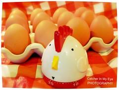 TIME for Free-Range Organic Eggs (Catcher In My Eye) Tags: oklahoma kitchen eggs ticktock eggtimer 52weekphotoproject ellenburgphotographyproject52 catcherinmyeyephotography 52weeksinphotos