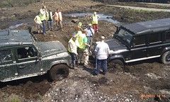 Winching finished (Joefuz) Tags: ireland forest snorkel stuck offroad 4x4 bog landrover discovery winch rangerover turf towing landroverdefender110 defender offaly winching defender90 bogged landroverdefender defender110 landroverdiscovery landroverdefender90