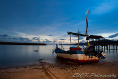 Fisherman Boat (Luck Photo) Tags: sunset sea seascape beach island boat seaside nikon penang micarttttworldphotographyawards