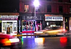 Ruby X. Driveby Blur - Ottawa  05 12 (Mikey G Ottawa) Tags: night nacht nuit dark highiso iso sensitivity light lightsensitivity iso1600 1600iso car motion blur motionblur speed movement rain rainy rainynight pluie regen shine shiny nightshot lowlight