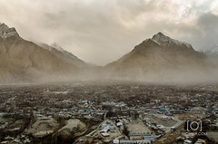 Skardu (M.Omair) Tags: road city autumn winter brown white snow tree water beautiful yellow fog clouds river sand nikon desert fort top peak valley omair leafs indus vr 18105 skardu baltistan shigar virgomair d7000 imomair kharpachu gilgitl kharphocho