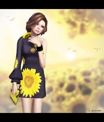 SoLiDea FoLieS -Sunflower version 2 (Lila Quander) Tags: fashion mesh secondlife ikon fleshtone izzies slfashion delmay glamaffair solideafolies lilaquander dementeddiva