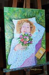 Mi prima en la hierba. (AGirau ...) Tags: flores flickr prima pintura oleo hierba descansando mluisa agirau