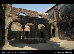 Courtyard of the Church inside Bassein Fort (Amar Mainkar) Tags: bombay vasai historicindia basseinfort vasaifort