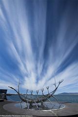 Dynamic sky over The Sun Voyager in Reykjavik, Iceland (skarpi - www.skarpi.is) Tags: ocean blue sky cloud sun clouds island iceland borg bluesky reykjavik voyager reykjavík ísland sjór ský sunvoyager sólfar harpa sólfarið capitalcity harpan reykjavíkurborg dynamicsky windclouds vindský