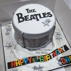 Beatles Drum Cake (Bakemiacupcake) Tags: cake square drum squareformat beatles the iphoneography instagramapp uploaded:by=instagram