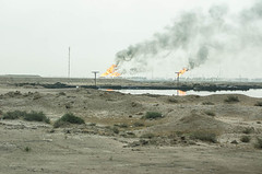 Gas Flaring, Iraq