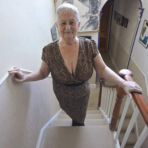 Busty granny picures something