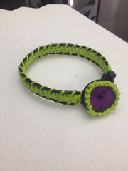 Crochet Romanian Lace Wrap Bracelet w/Crochet Button (Nicole Johnson7) Tags: crochet crochetbracelet dmcthread romanianpointlacecord