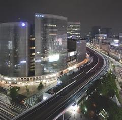Ginza (spiraldelight) Tags: night tokyo ginza   traffictrails eos5dmkii tse17mmf4l
