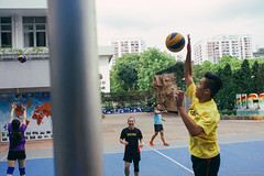 Warm up (Alan P. in Hong Kong) Tags: sony a65 documentary hongkong city life volleyball