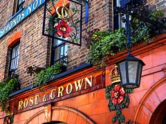 Rose and crown - Clapham (Draopsnai) Tags: brick lamp pub tiles clapham lambeth pubsign rosecrown thepolygon