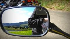 Spieglein Spieglein..... (Mein Ruhrgebiet) Tags: spiegel spiegelbild motorrad motorradtour motorrder rckspiegel vatertag spieglein vatertagstour
