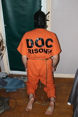 IMG_7866 (bob.laly) Tags: uniform chain jail shackles padlock handcuffs prisoner jumpsuit inmate