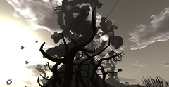 Petrovsky Flux 3 (Hunter_Kingsbury) Tags: tree clouds cloudy branches surreal deadtree secondlife dreamlike artinstallation foreground barebranches universityofkansas spencermuseumofart blottoepsilon cuteabenelli petrovskyflux hunterkingsbury