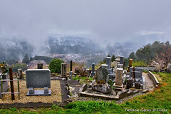 The resting place (Tatters ) Tags: cemetery japan fog clouds japanese shrine headstones graves summit cherryblossom yoshino yoshinoyama oloneo