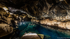 Grjótagjá Cave (Jonny Fay) Tags: road blue nature water june clouds landscape iceland nikon mood moody view natural scenic dramatic ring crack solstice vista cave drama fissure d800 2014 grjotagja
