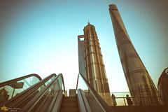 City Convenience (Andy Brandl (PhotonMix.com)) Tags: china city sky urban modern nikon skyscrapers shanghai escalators pudong modernarchitecture lujiazui photonmix